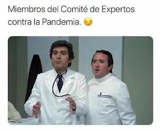 Fernando esteso y Andrés Pajares vestidos de médico