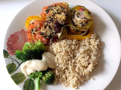 almoço de páscoa vegano