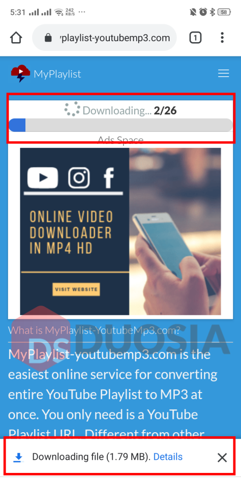 download daftar putar youtube android format audio