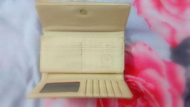 Lino Perros Gold Toned Textured Threefold Wallet (Myntra.com)