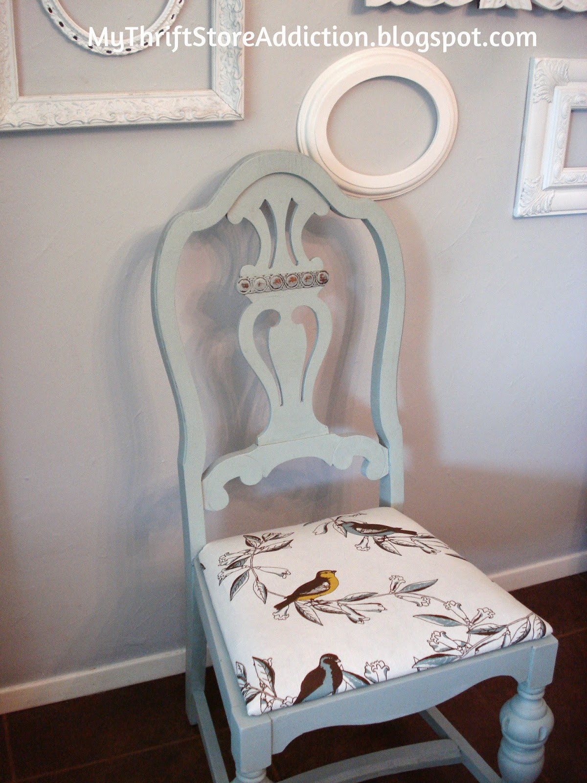 Chalk painted thrift store chair