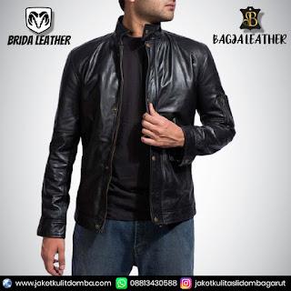 jaket kulit blazer