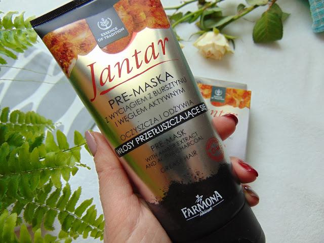 Farmona - Kosmetyki do pielęgnacji włosów z serii Jantar Pre-Maska i Kuracja proteinowa