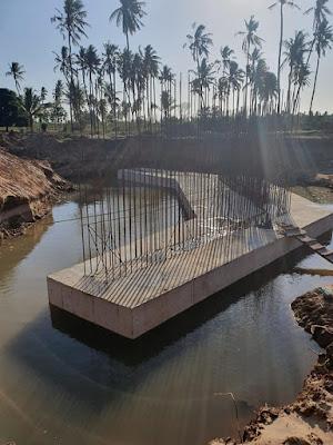Baricho Bridge construction in Langobaya, Malindi. PHOTO | KeRRA