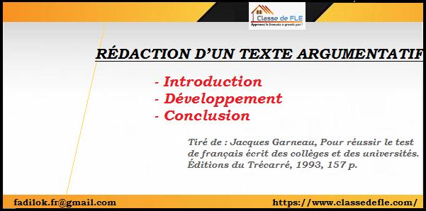 Exemple D Introduction D Un Texte Argumentatif