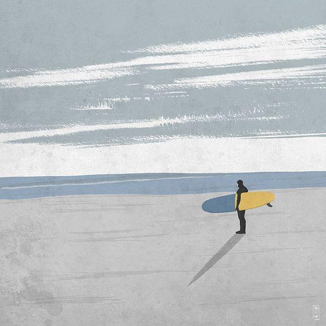 El surf art sobrio de Davide Rostirolla
