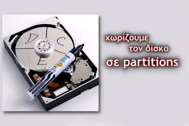 Partition on hard disk