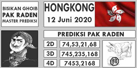 Prediksi HK Malam Ini 12 Juni 2020 - Pak Raden