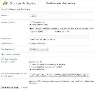Membuat adsense ads for search