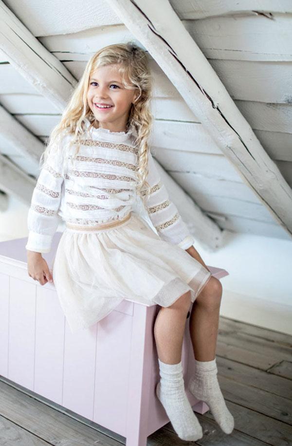 Moda faldas para niñas otoño invierno 2018. Ropa de niñas otoño invierno 2018.