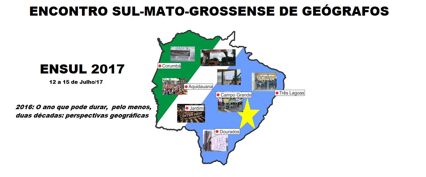 XXII ENCONTRO SUL-MATO-GROSSENSE DE GEÓGRAFOS