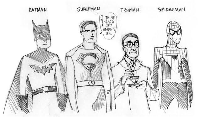 superheroes batman superman spiderman