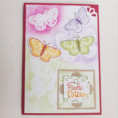 Flügel voller Fantasie - Schmetterlinge auf der Osterkarte Stampin' Up! www.eris-kreativwerkstatt.blogspot.de