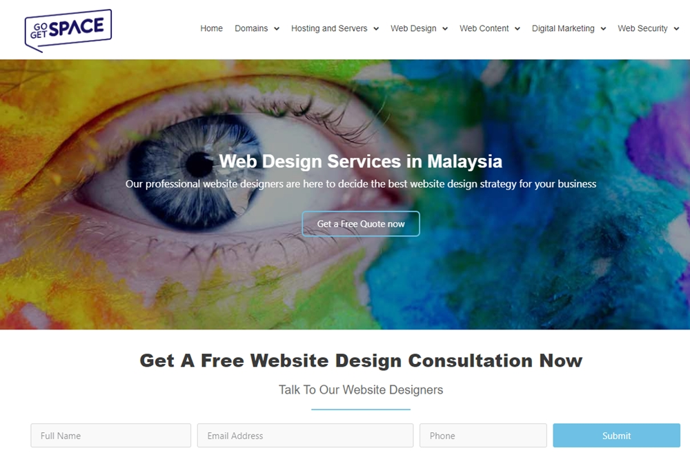 go get space website design malaysia