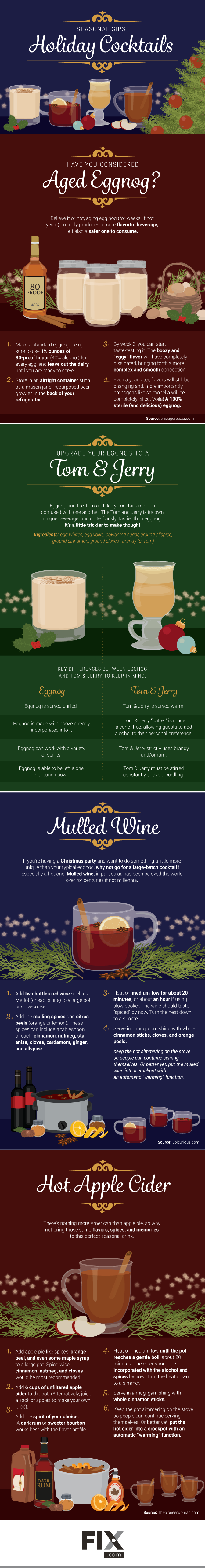 Festive Cocktails for the Holidays #infographic