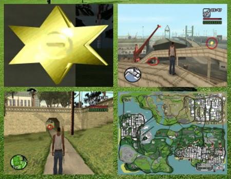 Lokasi & Tempat Ikon Bribe (Bintang) Peta & Preview GTA San Andreas