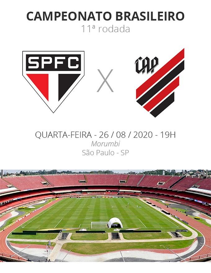 São Paulo x Athletico: veja onde assistir aos gols, escalações, desfalques e arbitragem