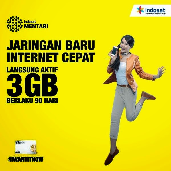 PAKET INTERNET INDOSAT DATA 3GB