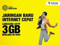 Beberapa Pilihan Paket Internet Indosat (Im3 dan Mentari) Sistem Kuota Bulanan