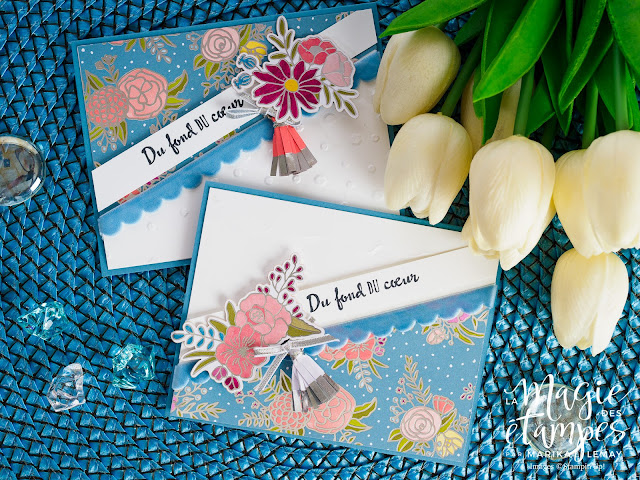 ensemble de cartes florales avec le lot d'ornements Douce soirée Stampin' Up!