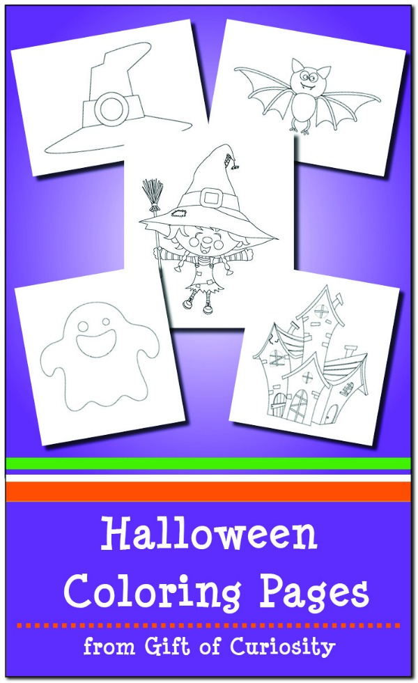 Cute halloween character colouring in sheets free printable