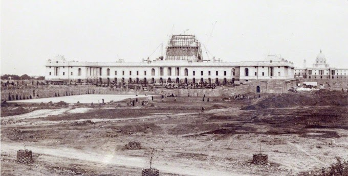 Rashtrapati Bhavan delhi India in 1920 under construction