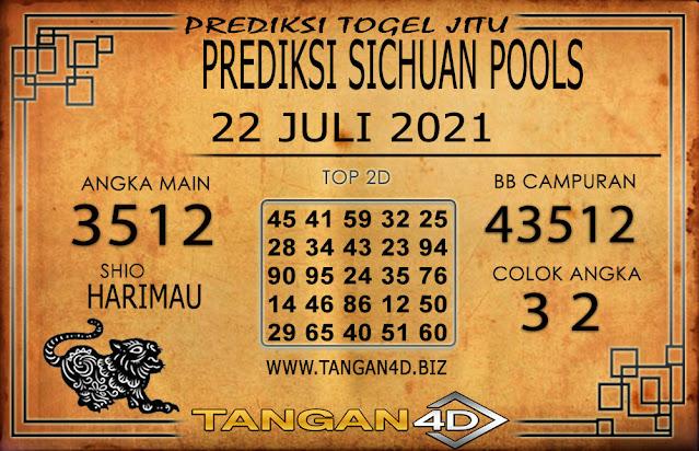 PREDIKSI TOGEL SICHUAN TANGAN4D 22 JULI 2021