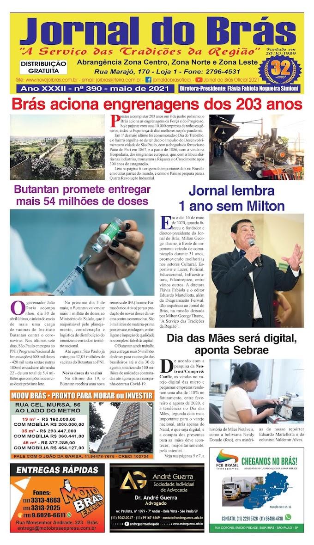 Destaques da Ed. 390 - Jornal do Brás