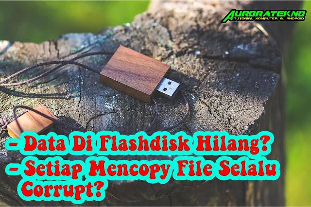 Data Flashdisk Hilang Tapi Kapasitas Ada? Setiap Mengcopy File Ke Flashdisk Selalu Corrupt?
