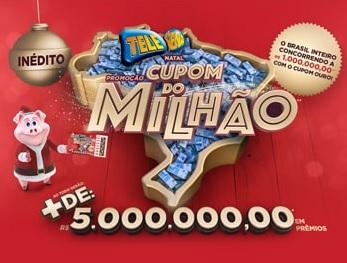 Cadastrar Cupom do Milhão Tele Sena Natal 2020