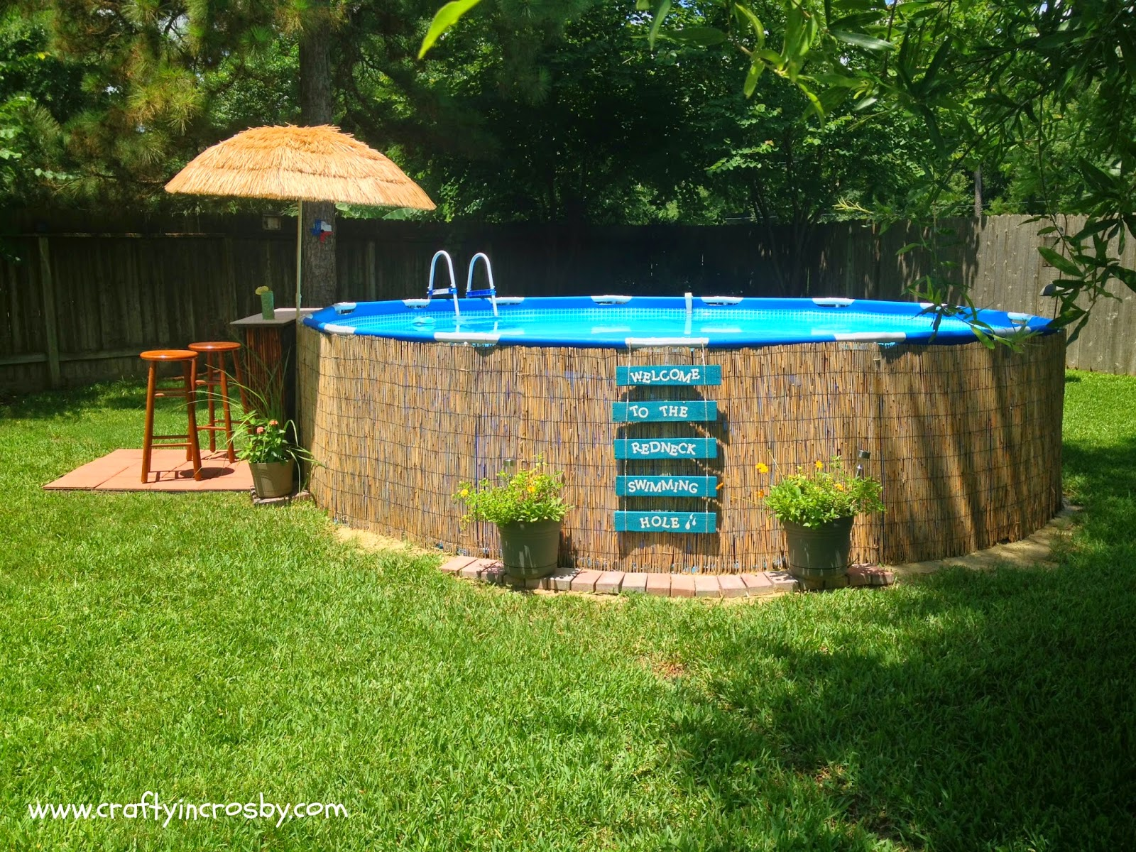 Crafty in crosby tiki bar update - Above ground pool bar ...