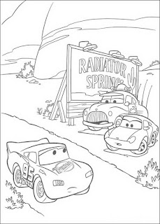 Ausmalbilder Disney Pixar Cars zum Ausdrucken