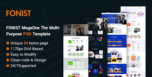 Best Multipurpose Onepage PSD Template