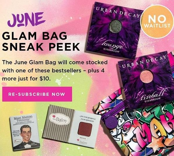 June 2017 Ipsy Glam Bag Sneak K