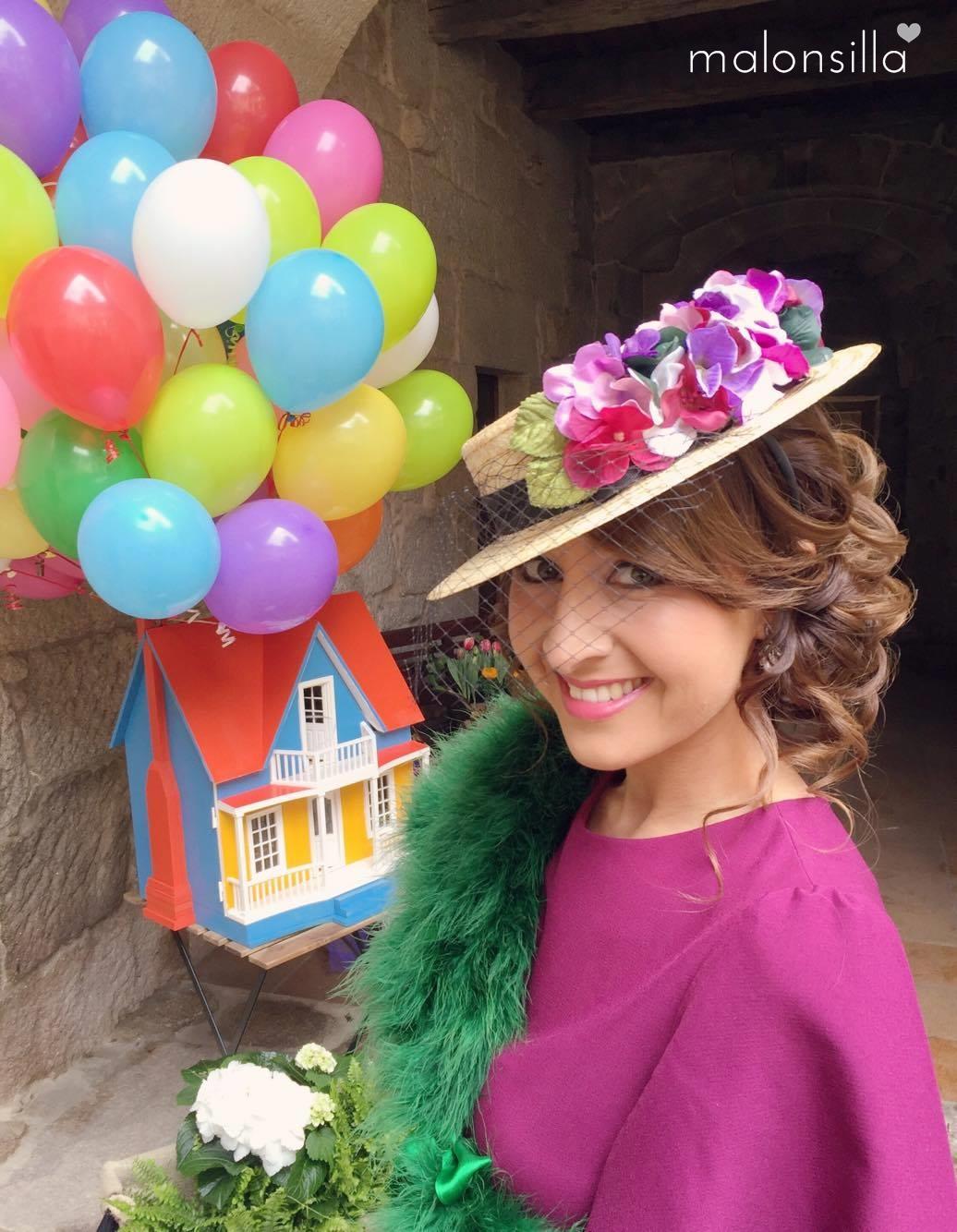 Invitada de boda decorada como pelicula UP de Disney c1636bdf59a