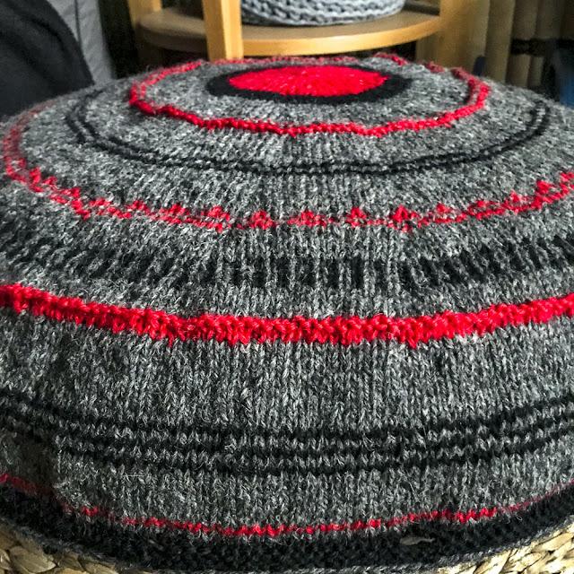 kuddöverdrag, pillowcover, stickning, knitting, upprepningsgarn