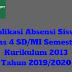 Aplikasi Absensi Siswa Kelas 4 SD/MI Semester 1 Kurikulum 2013 Tahun 2019/2020 - Ruang Lingkup Guru
