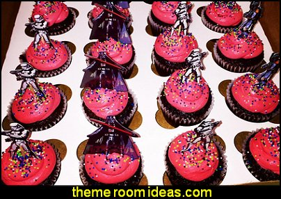 Star Wars Theme Party Decorative Cupcake Topper for Kids Birthday Party