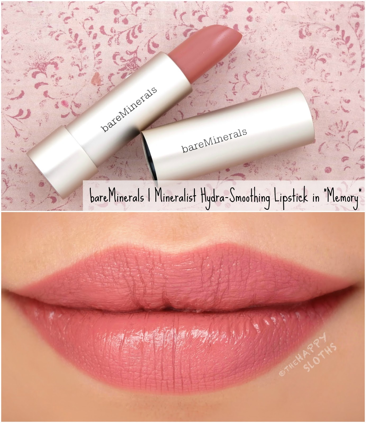 "bareMinerals | Mineralist Hydra-Smoothing Lipstick in ""Memory"": Review and Swatches"