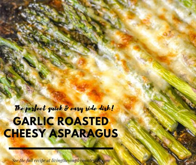 GARLIC ROASTED CHEESY ASPARAGUS