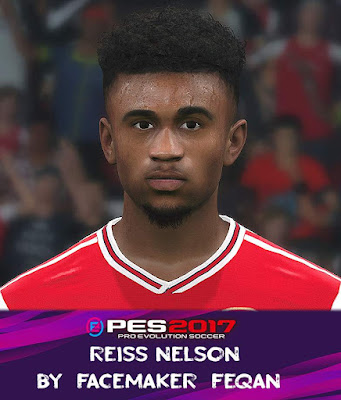 PES 2017 Reiss Nelson Face by Feqan