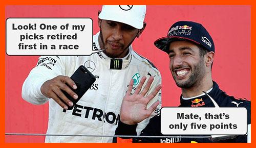 Hamilton and Ricciardo