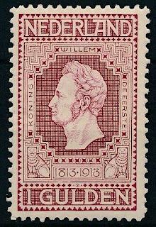 Netherlands 1913  Koning Willem de Eerste 1 gulden
