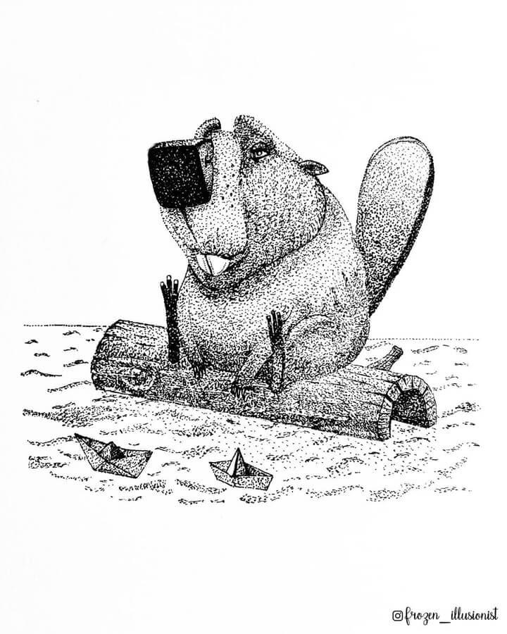 10-Beaver-and-paper-boats-Fiona-Victoria-www-designstack-co