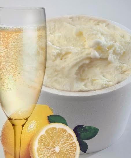 champagne y helado
