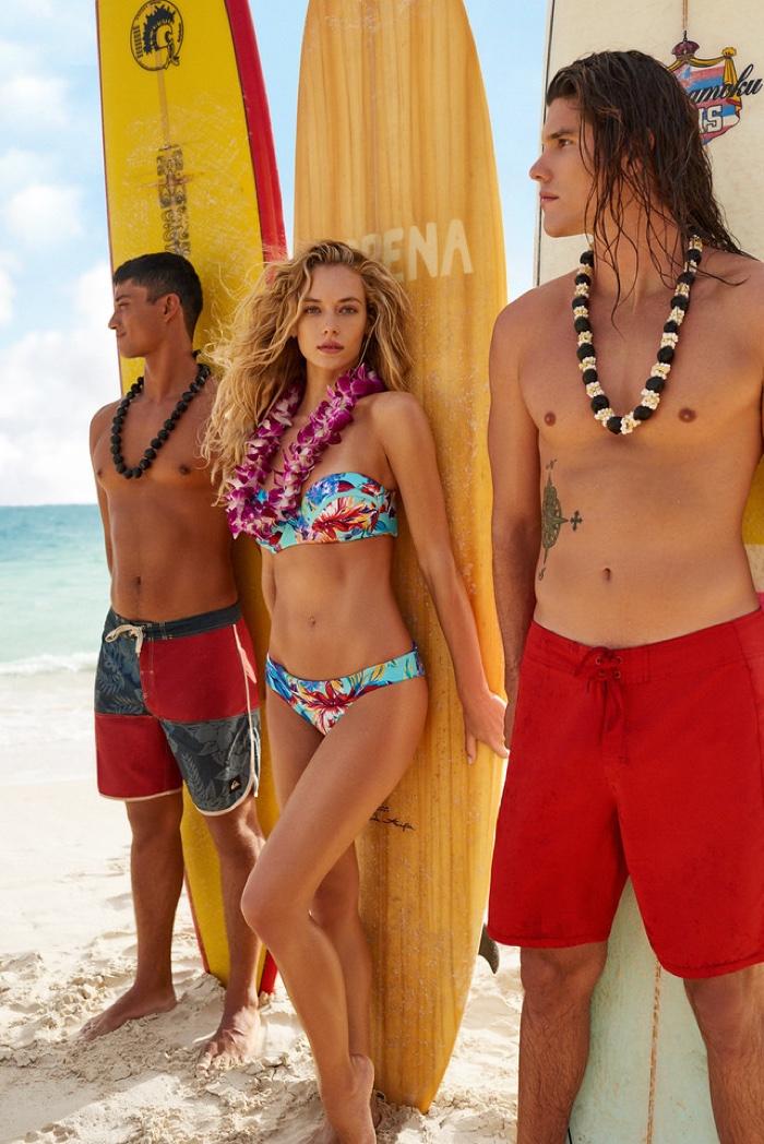 Hannah Ferguson poses for KikiRio's spring 2017 swimwear collection
