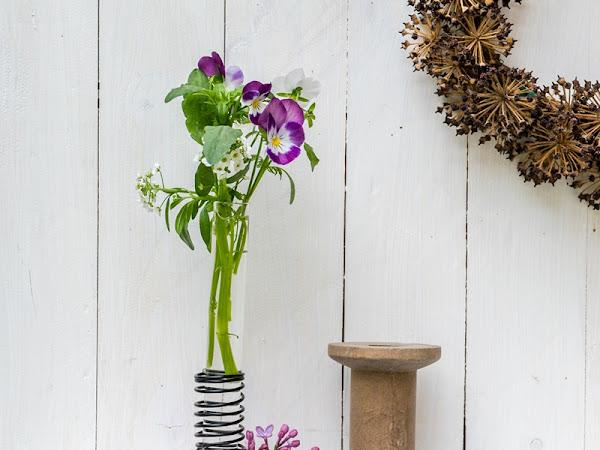 DIY Reagenzglasvasen aus Gips und Draht - eine hübsche Geschenksidee zum Muttertag