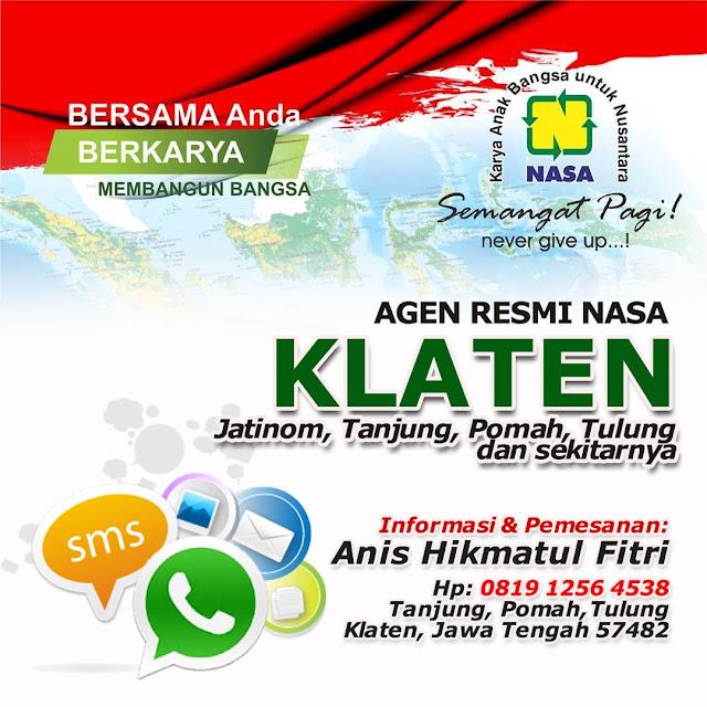 Alamat Agen/Toko Nasa Wilayah Tulung, Jatinom, Pomah, Klaten dan Sekitarnya