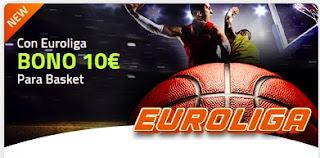 Luckia Euroliga bono 10 euros 8-12 marzo 2021