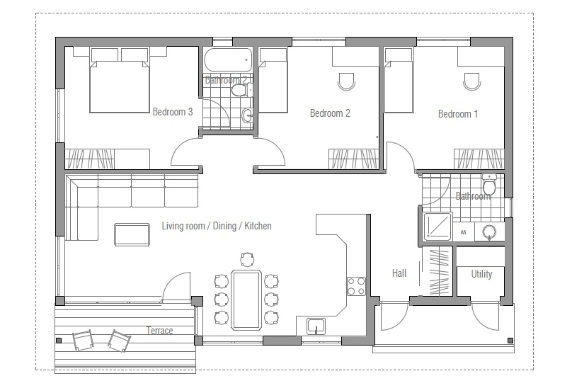 Affordable Home Plans: Affordable Home Plan CH63